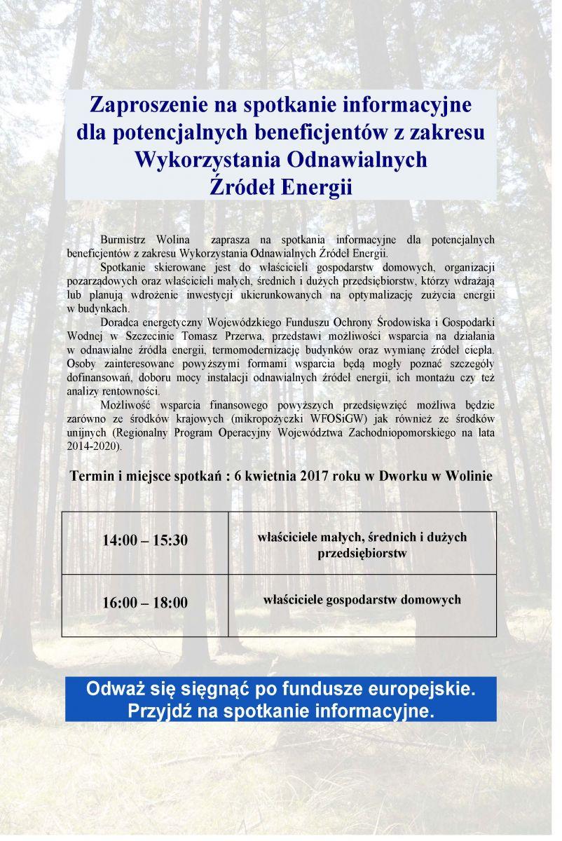 plakat zaproszenie naspotkanie informacyjne